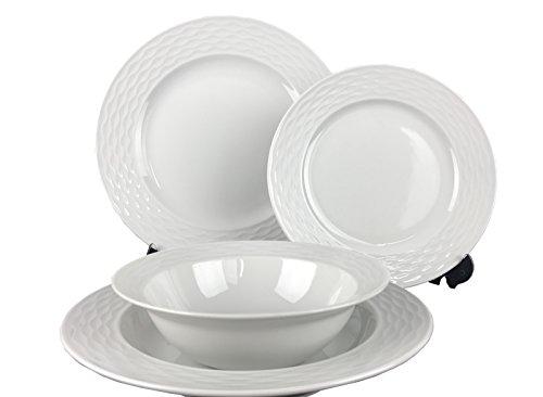 Kütahya pors Elen EGE 24piezas, de 6Personas ESS Servicio de Vajilla Dinner Set