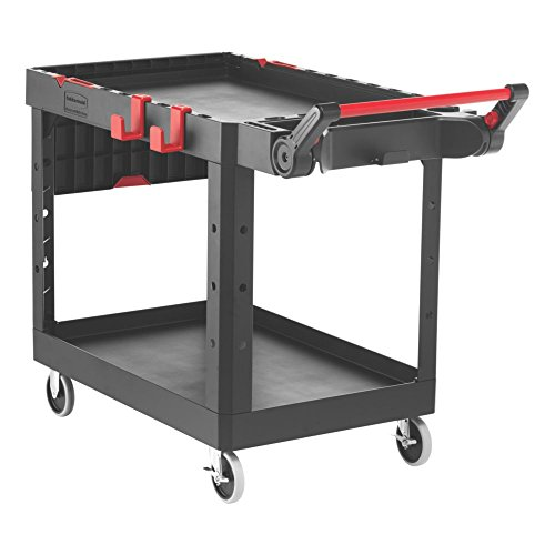Rubbermaid Commercial Products 1997208 Heavy Duty Adaptable Utility Cart, Black, Medium, 51.47' Height, 36.00' Width