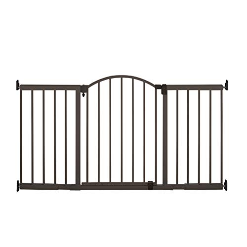 Summer Metal Expansion 6-Foot-Wide Extra Tall Walk-Thru Baby Gate, Bronze Finish...