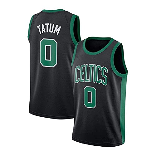 WEIZI Camiseta Deportiva Celtics # 0 Jayson Tatum, Chaleco Deportivo para Hombre, Espacioso y cómodo, S-2XL, Negro, Blanco, Verde
