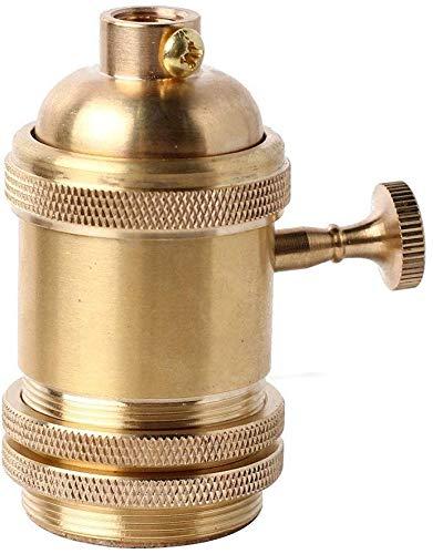 Vintage E27 Edison Glühbirnenfassung Lampenfassung mit EIN / AUS Schalter, Antik Kupfer Messing Lampenfassung DIY Anhänger Deckenleuchte Halter (bronze)