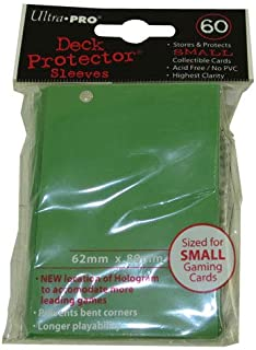 Trading Card Supplies - Ultra Pro DECK PROTECTORS - GREEN (50 pack - Small Yu-Gi-Oh Size)