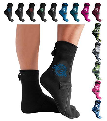 BPS - 3mm High Cut & Low Cut Neoprene Diving Socks for Men and Women