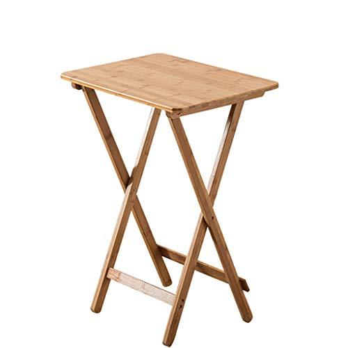 Bamboe Vouwtafel Vierkante Tafel Eenvoudige Kleine Thee Tafel Draagbare Eettafel Laptop Tafel Tafel Outdoor Effen Hout Lange 50* Breedte 36,5* Hoge 62CM