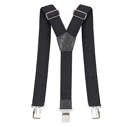 Tirantes Hombre 40 mm Ancho Tirantes para Pantalones Hombre Elegante Retro Y Forma con Clips Extra Fuerte Amplio Adjustable Elastics Fuerte Una Talla Para Todos