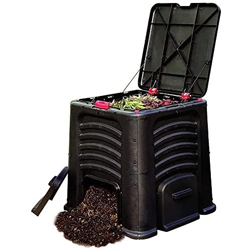 ZDYLM-Y Compostador, contenedor de desechos de jardín Ambiental de 105 galones (400L) con 4...
