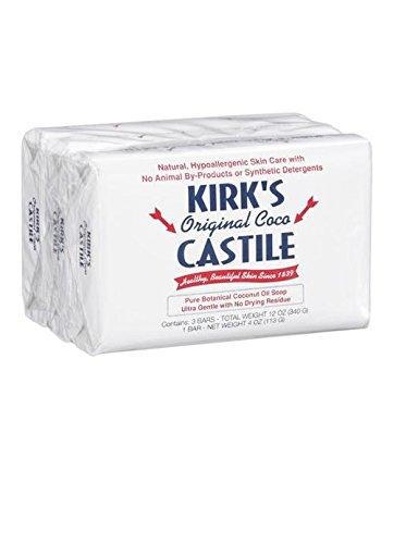 Kirk 's Natural Kastilien Seife Original–4Oz, je 3ct