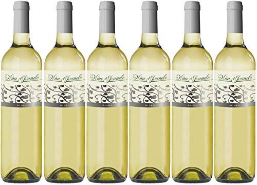 Viña Juanele - Vino Blanco Airén - Vino de la Tierra de Castilla- 6 botellas x 750 ml