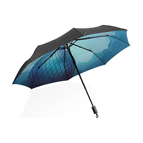 Regenschirm Kid Islamic Design Banner Vorlage Tragbare Kompakte Taschenschirm Anti Uv Schutz Winddicht Outdoor Reise Frauen Große Regenschirme Für Regen Winddicht