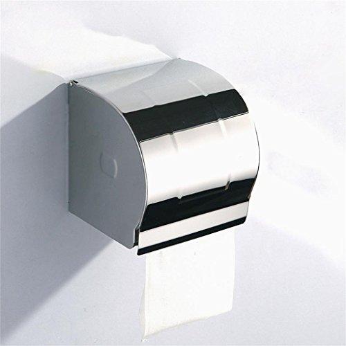 TRRE 304 en acier inoxydable boîtes en papier toilette Accessoires de salle de bain, rouleau de papier de toilette boîte de tissus avec couvercle, murale, scellée imperméable à l'eau