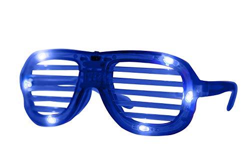 Blaue Jalousien-LED-Brille Party. Blinkende Brille