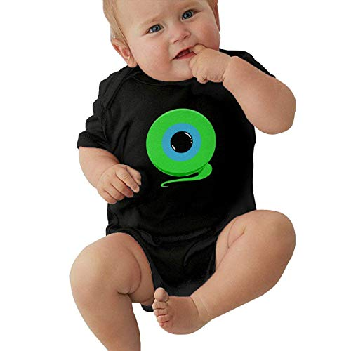 Yaxinduobao Body de algodón Unisex para bebé 1-24 Months Baby Short Sleeve Creeper Jumpsuit Jack's Septic Eye Elegant and Simple Design Black