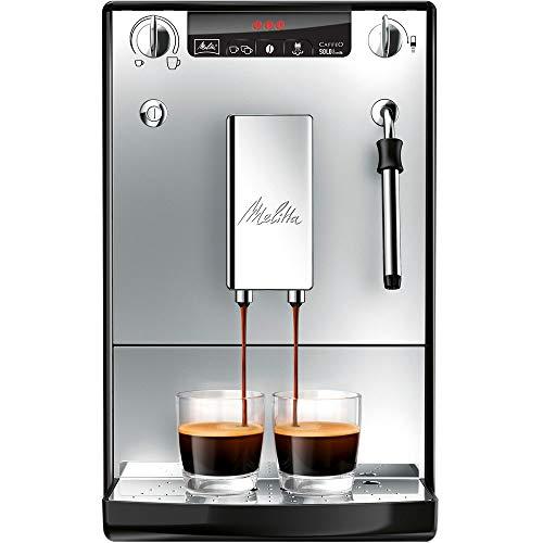 Melitta SOLO & Milk E953-102, Bean to Cup Coffee Machine, with Milk Steamer, Silver
