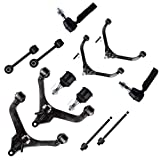 ZENITHIKE 12PCS Suspension Kit Replacement For Jeep Liberty Parts Ball Joint Control Arm Control Arm And Ball Joint Assembly Stabilizer Bar Link Kit Tie Rod End