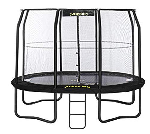 trampolin mit Netz und Leiter JumpPod Oval351 x 244 cm schwarz (2016)