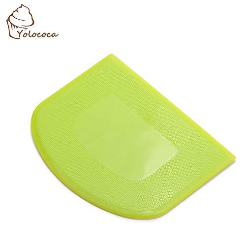 Yolococa Raspador de Masa de Plástico Cortador de Masa Espátula Masa de Plástico Utensilios de Cocina