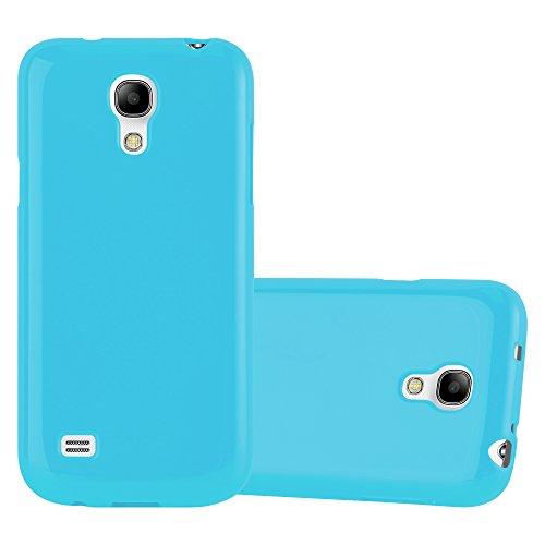 Cadorabo Hülle für Samsung Galaxy S4 Mini in Jelly HELL BLAU – Handyhülle aus flexiblem TPU Silikon – Silikonhülle Schutzhülle Ultra Slim Soft Back Cover Case Bumper
