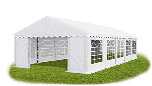 Das Company Partyzelt 6x10m wasserdicht weiß Zelt 240g/m² PE Plane hochwertig Gartenzelt Summer PE
