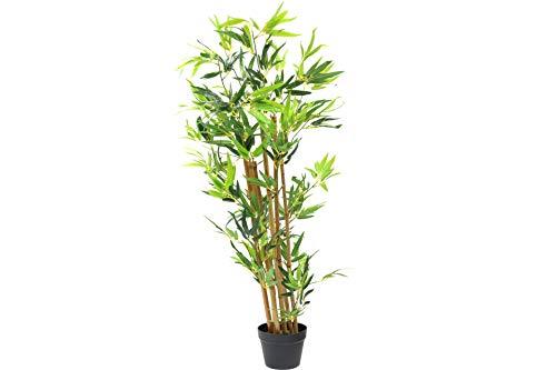 Deko Pflanze Bambus mit echten Stämmchen im Topf 130 cm