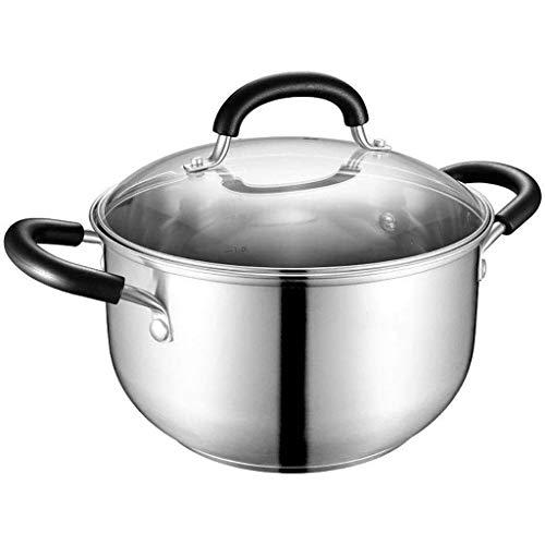 Sopa de olla de acero inoxidable de 304 hogares engrosamiento cocina olla caliente de gas cocina de inducción leche Olla Pequeño Pot lucar (Size : 24CM)