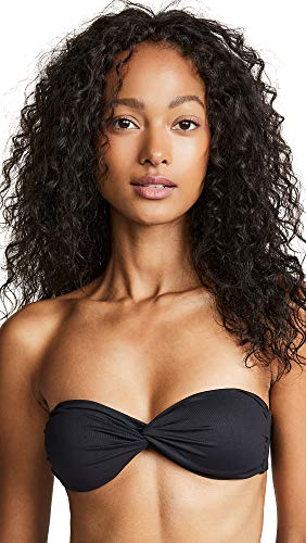 Melissa Odabash Women's Lyon Bikini Top, Black, 42
