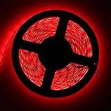 QUICKLYLY Tiras LED TV Luz RGB Light Iluminación Flexible,5M 5050 SMD RGB Tira de luz LED Muti color 12V 300 lámpara led(rojo)
