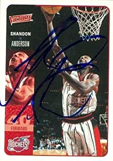 52aeb4d41c4f Shandon Anderson autographed Basketball Card (Houston Rockets) 2000 Upper  Deck Victory  74