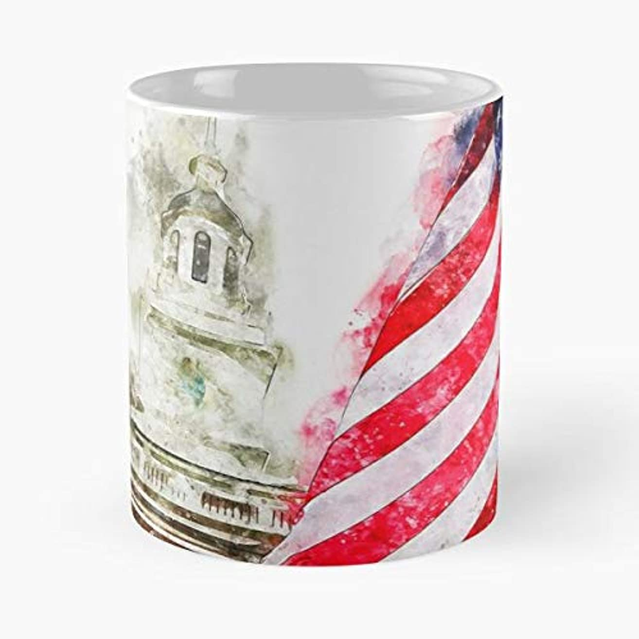 Philadelphia Independence Hall Usa Indipendence - Ceramic 11 Oz Coffee Mugs History United States Of - Best Independence Day Gift