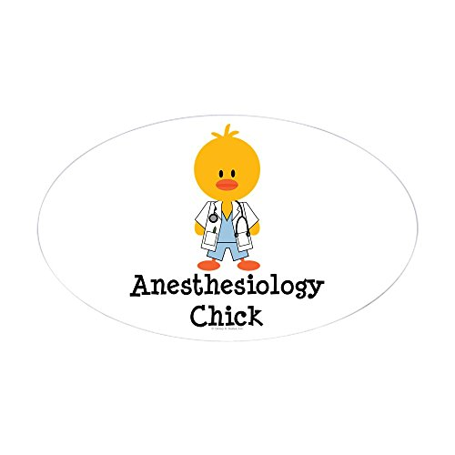 CafePress Anesthesiology Chick Oval Sticker Oval Bumper Sticker, Euro Oval Car Decal