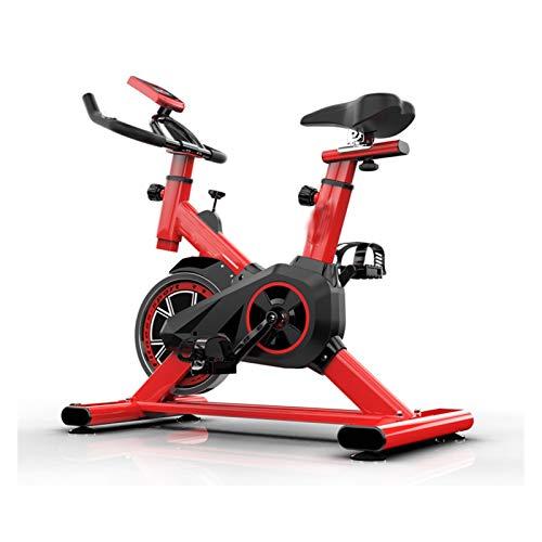 PPLAS Home Ejercicio Bicicleta Fitness Equipos de Mute Ejercicio Bicicleta Interior Ejercicio Bicicleta Ciclismo Entrenador Equipo Deportivo (Color : Red)