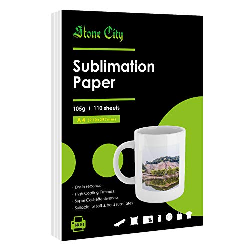 Sublimation Paper 110 Sheets 8.3x11.7 for Heat Transfer DIY gift A4 Compatible with Inkjet Printer with Sublimation Ink