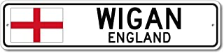 Wigan, England - England Flag Street Sign - Aluminum 4
