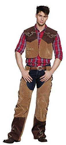 Boland 83646 Erwachsenen Kostüm Cowboy Bruce, mens, 54/56