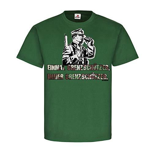 Einmal Grenzschützer Immer Bundesgrenzschutz BGS Sonderpolizei T-Shirt #20223, Größe:XXL, Farbe:Grün