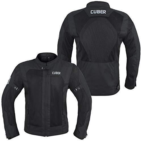 Cuber Motorcycle Mesh Jacket Riding Air Biker Jacket CE Armored Breathable Summer Motorbike Jacket...