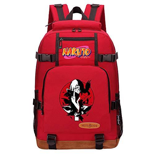 Anime Backpack with USB Charging Port Laptop Shoulder School Bag Naruto