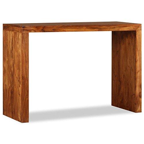 vidaXL Massivholz Konsolentisch Konsole Beistelltisch Sideboard Flurtisch Ablagetisch Frisiertisch Holztisch Palisander-Finish 110x40x76cm