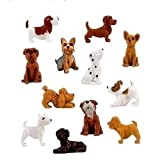 MinDo 18 Pieces - Complete Set Plus 6 More Adopt a Puppy Dog Figures Dachshund Basset Hound Bull Terrier Jack Russell Dalmatian Black Labrador Yorkshire Boxer Bloodhound Bulldog Poodle Chihuahua Toy