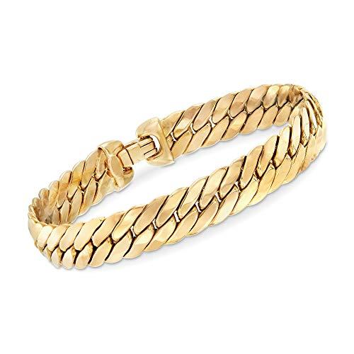 Ross-Simons Italian 14kt Yellow Gold Cuban-Link Bracelet