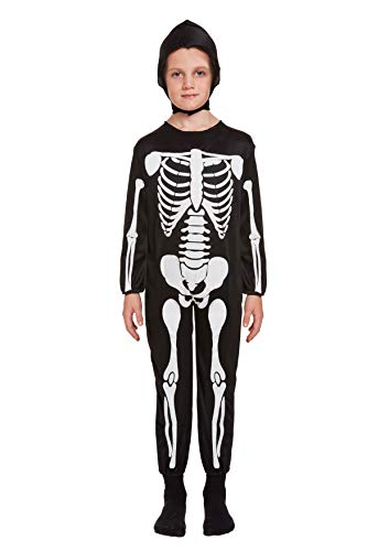 Henbrandt Costume Squelette Enfant Taille Moyenne Age 7 - 9 Ans