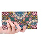 Borsa a forma di titolare di carta di credito a lungo portafoglio unico portafoglio donne tinta lunga colore astratto unico