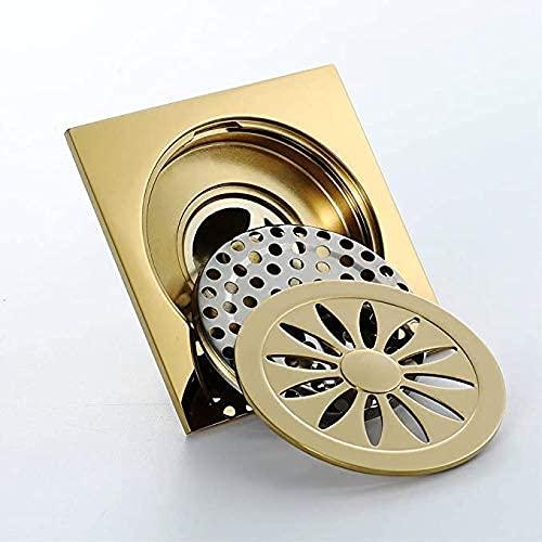 ZYQHJKLHK Rejilla de desagüe de Piso de inserción de azulejo de Ducha para baño, desagüe de Piso de Acero Inoxidable de 10x10 cm para Cocina, baño, Garaje y sótano