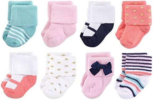 8-Pack Little Treasure Girl Terry Socks Confetti