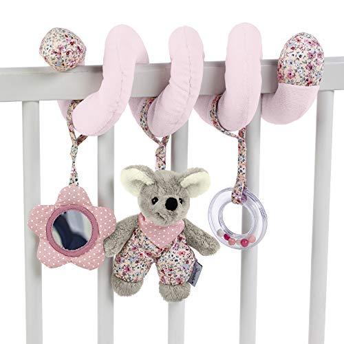 Sterntaler Spielzeugspirale, Maus Mabel, Inklusive Rassel, Alter: Für Babys ab der Geburt, Rosa/Mehrfarbig
