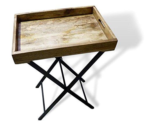 Tafelblad dienblad mango houten dienblad met frame bijzettafel retro vintage design