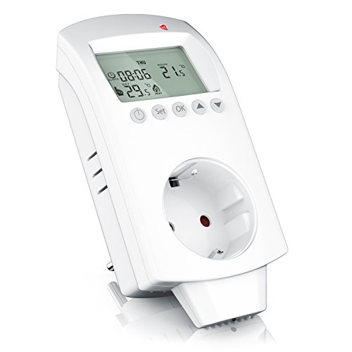 Preisvergleich Produktbild CSL - Thermostat digital - Steckdosen Thermostat für Heizgeräte Infrarotheizungen Kühlgeräte - Anti-Frost-Modus Frostschutz - Weiß