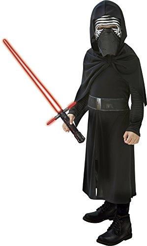 Star Wars - Disfraz de Kylo REN + Espada con Cruz para niños (Rubie'S 620514-L)