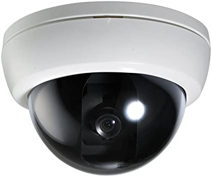 Security Camera Indoor Wired Analog Dome Camera 600TVL 3.6mm Fixed Lens - Commercial Grade Professional Surveillance for Industrial, Business and Home CCTV System - CNB D192-0S W White