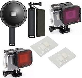 Pacote de Acessórios para Gopro Hero 5 e Gopro Hero 6 com pastilhas anti embaçante fog Filtros de merguho Vermelho e Magenta Mais Dome 6 polegadas