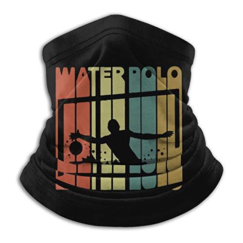 Vintage Style Water Polo Silhouette Unisex mask Balaclava Bandana Adjustable Windproof Scarf Gaiters face mask Neck Gaiter for Men Black